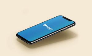 Phone with AspenRX app loading.